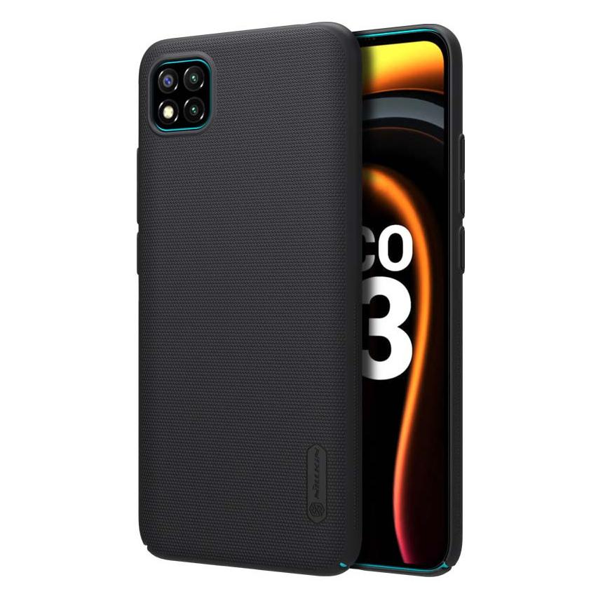 NILLKIN θήκη Super Frost Shield για Xiaomi Poco C3, μαύρη